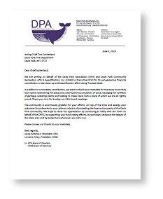 DPA Letter drop shadow